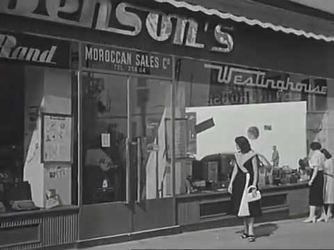 Pub magasin Benson's Casablanca . 1952