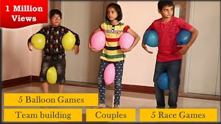 5 Balloon Games | 5 Race games for kids and adults | Good for team building [2019]
