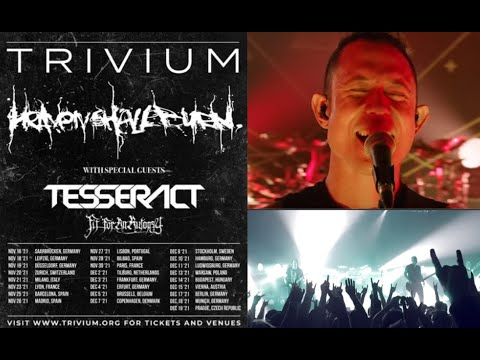 Trivium, Heaven Shall Burn, TesseracT and Fit For An Autopsy fall 2021 Euro tour