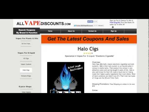Halo E Cig Coupons - Working Electronic Cigarette Coupons