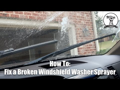 Fix Your Broken Windshield Washer Fluid Nozzle Jets - 2007-2013