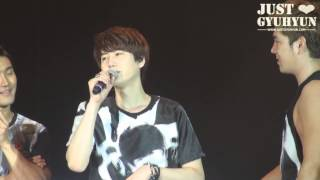 JustGyuhyun]130427 SuperShow5 in Lima [funny talking]