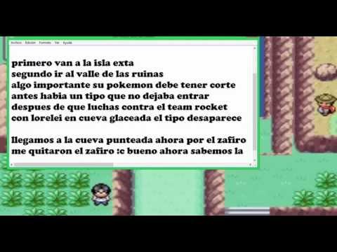 Como encontrar el Zafiro y la segunda contraseña  para el almacen rocket  en Pokémon Rojo Fuego