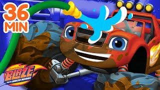 Best Car Wash Surprises w/ the Monster Machines! | Blaze and the Monster Machines
