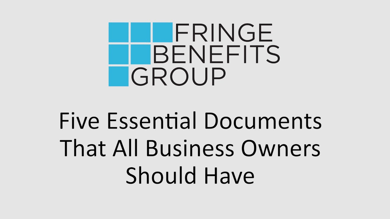 5 Essential Documents Every Business Owner Should Have