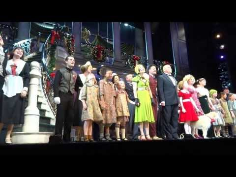Closing Curtain Call - Annie On Broadway - Jan 5, 2013