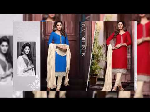 Salwar Kameez Chanderi Suits Collection 2016 | latest collection by indian fashion designers