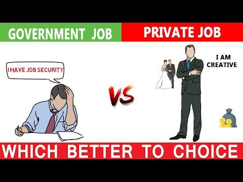 सरकारी नौकरी और PRIVATE JOBS कौन सा अच्छा है | Govt jobs vs Private jobs which is better||10 fact ||