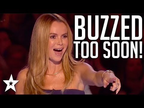 When Judges BUZZ Too Soon! | Britain's Got Talent | Got Talent Global
