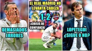 EL REAL MADRID PIERDE ANTE EL LEVANTE (1-2) Y NO LEVANTA CABEZA | SIGUE LA CRISIS | ¿Y LOPETEGUI?