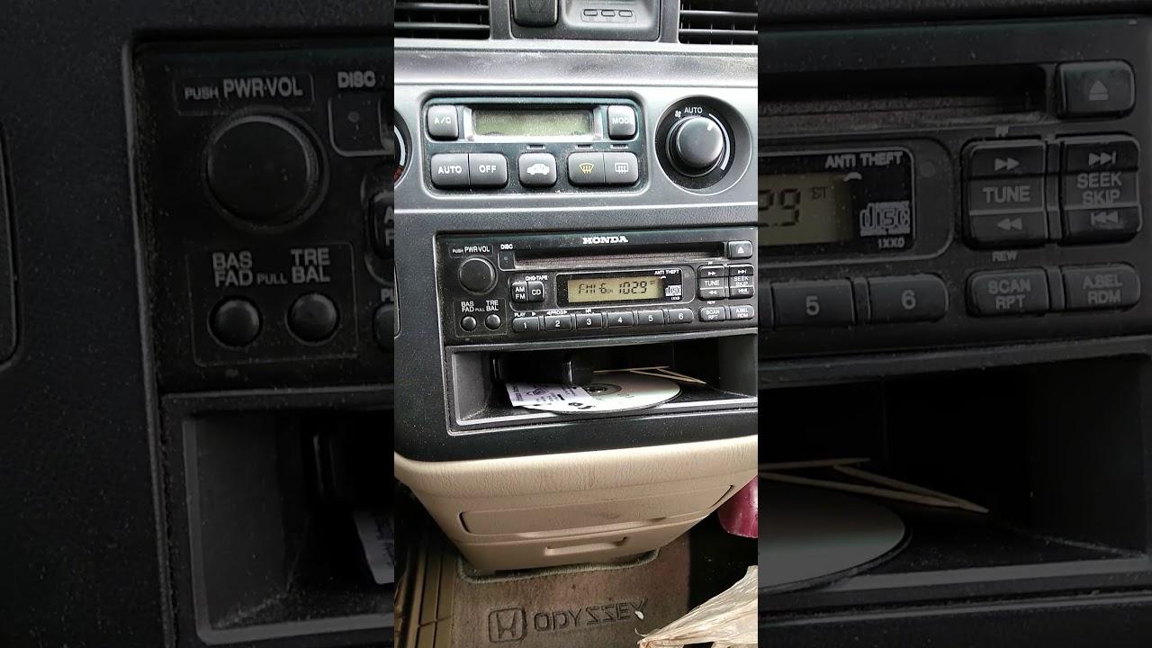 2000 Honda Odyssey Radio Code
