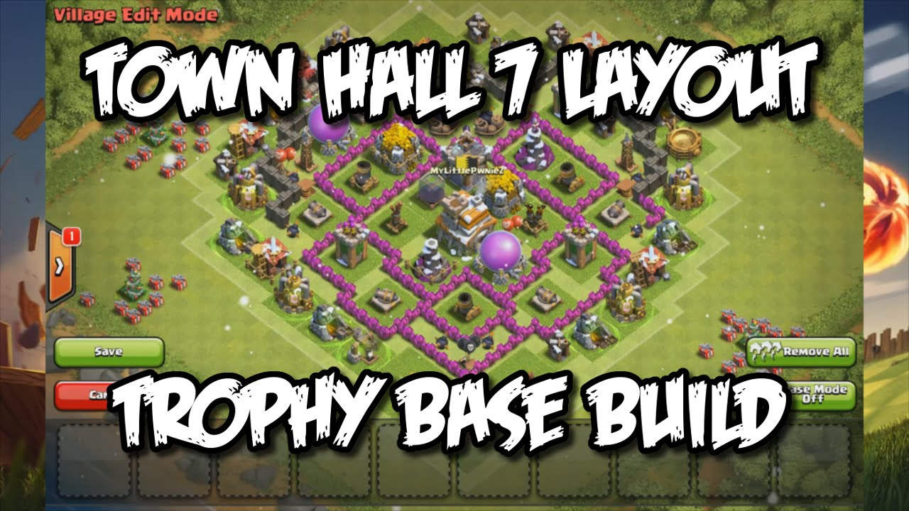 Clash Of Clans Town Hall 7 Defense Coc Th7 Trophy Base Layout Defense Strategy Build Youtube