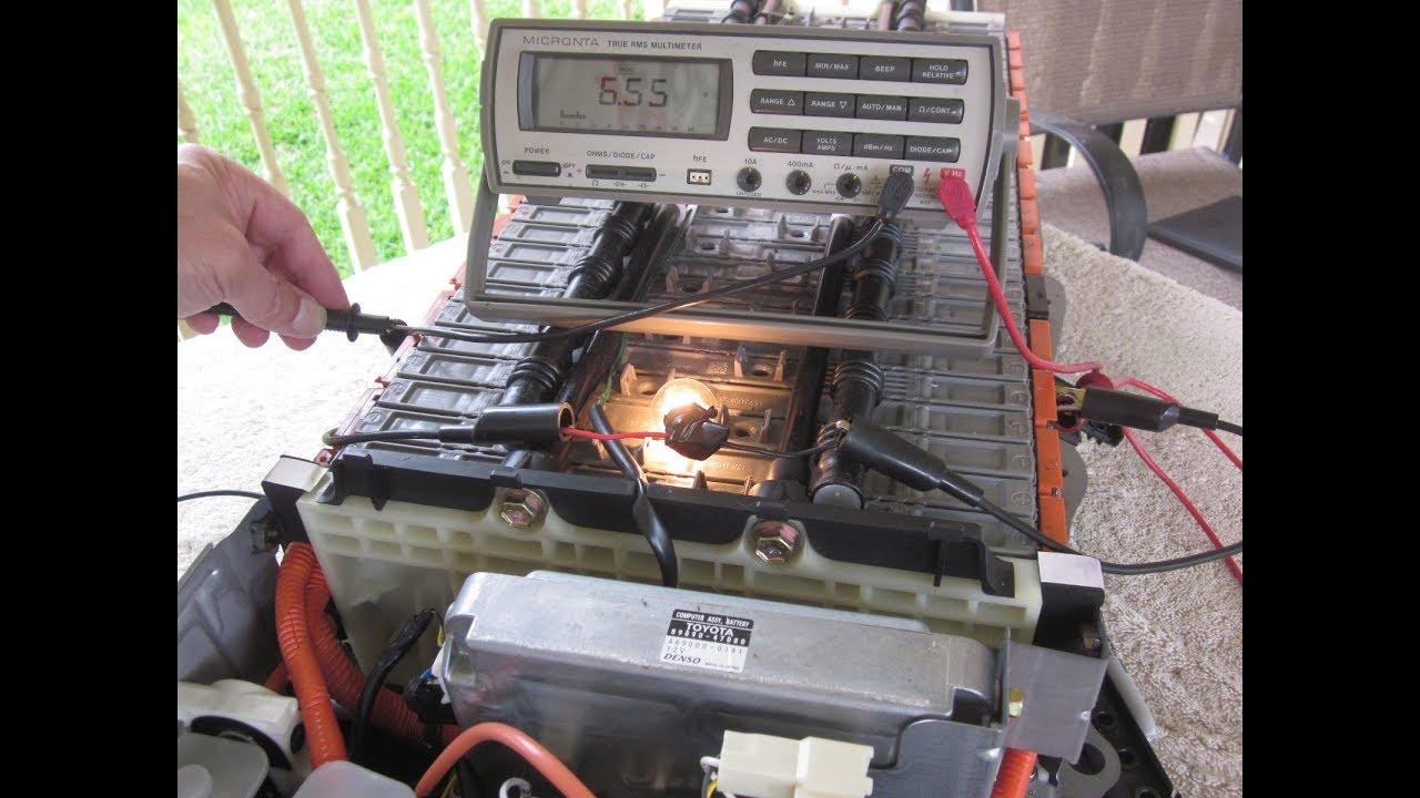 Diy Finding Good Bad Prius Hybrid Battery Modules Using Load Testing Method