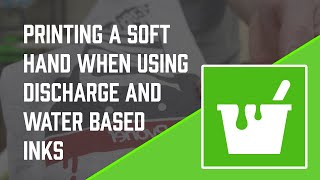 How to Screen Print Soft Hand w/ Discharge & Water Based Screen Printing Ink