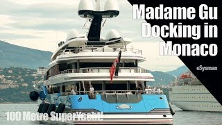 Download 100m SuperYacht Docking in Monaco - Madame Gu Mp3 and Videos