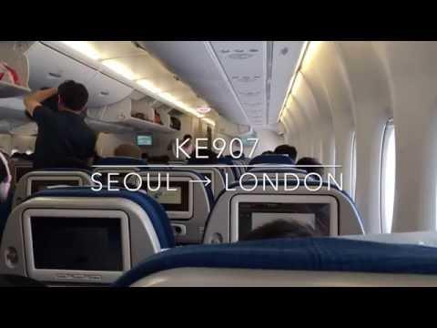 KOREAN AIR 대한항공 A380 Seoul/Incheon서울/인천  ⇒ London/Heathrow  런던 Economy class experience