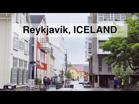 Walking in Reykjavík, the Capital and Largest City in Iceland