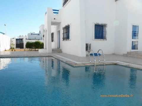 Vente villa 154m 167 000 djerba tunisie youtube - Google vue des maisons ...