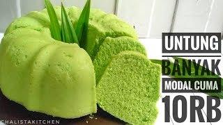 BOLU PANDAN KUKUS CUMA 2 TELUR SELEMBUT KAPAS -  STEAMED CAKE PANDAN RECIPE