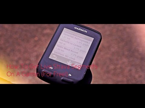 How to Get Live Strava Segments On A Garmin Cycle Computer