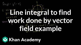 Using a line integral to find the work done by a vector field examp...