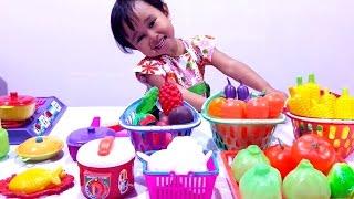KOKI CILIK 💖 Mainan Masak Masakan Buah Buahan dan Sayur Sayuran 💖 Let's Play Jessica Jenica 💖