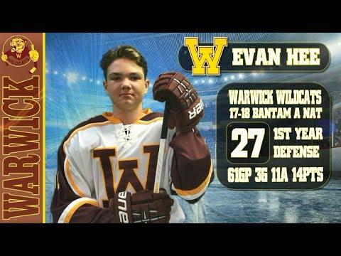 2017 2018 Warwick Wildcats Highlights  - Evan Hee