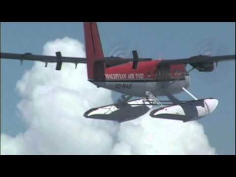 Fantastic Air to Air Twin Otter over Maldives