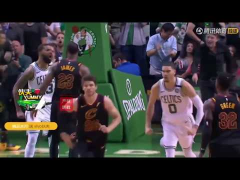 77c82eef8ff Paul Pierce Go Crazy After Jayson Tatum Posterize LeBron James In Game 7  ECF I The