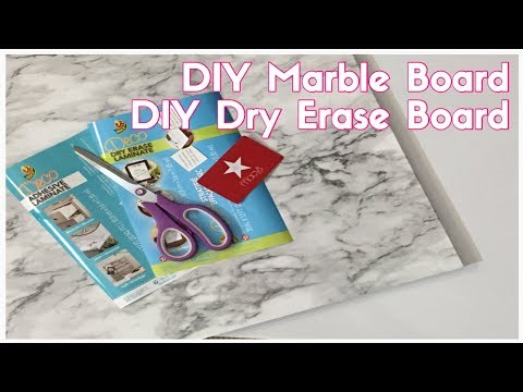 DiY Marble Board DiY Dry Erase Board | HOW TO