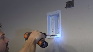 How to Install AC electric outlet behind LCD screen in Wall, PowerBridge Solution