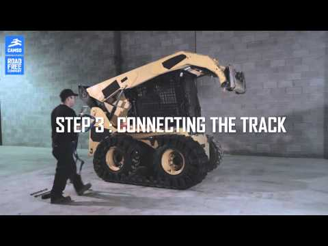 How to install Camso OTT track for skid loader