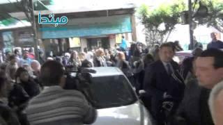 أجواء جنازة حفيد الفنان فريد شوقى وطليق الفنانة داليا البحيرى