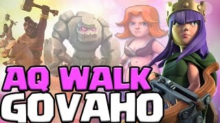 EPIC AQ WALK GOVAHO TH9 3 STAR ATTACKS! | Anti 3 Star TH9 War Bases | Clash of Clans