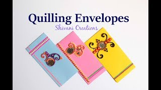 Part 1: Quilling Shagun Envelopes For Rakhi/ Handmade Quilled Envelope