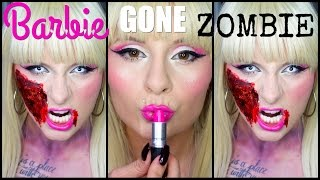 Halloween Collab: Barbie Gone Zombie Makeup!