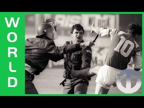 1990 Dinamo Zagreb Red Star Belgrade Riot The Football War Youtube