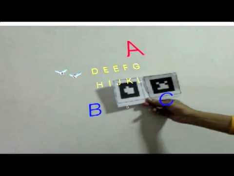 Augmented reality MultiMarkers 2D Asset
