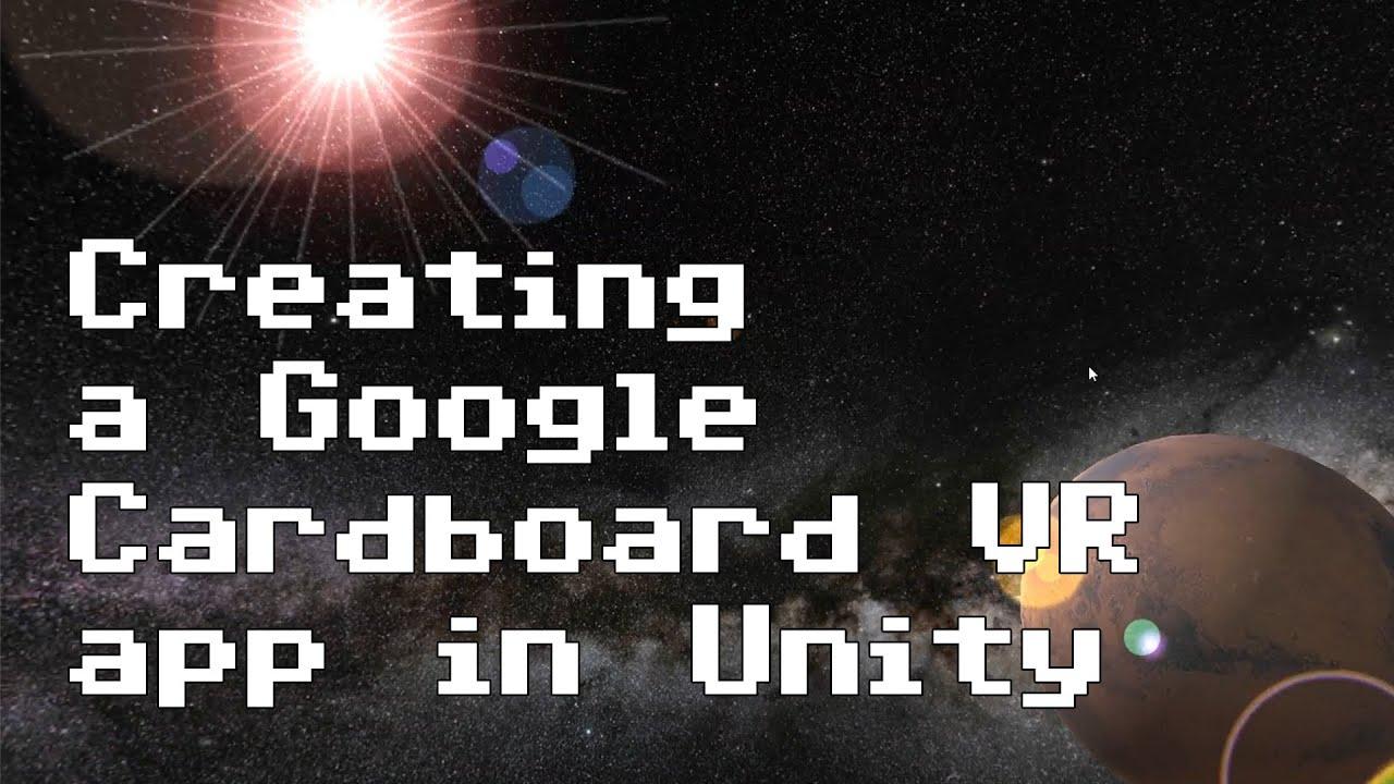 f3df68b3895f Creating a Google Cardboard VR app in Unity  RNDBITS-018  - YouTube