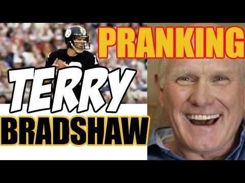 Pranking TERRY BRADSHAW - NFL LEGEND - Tom Mabe