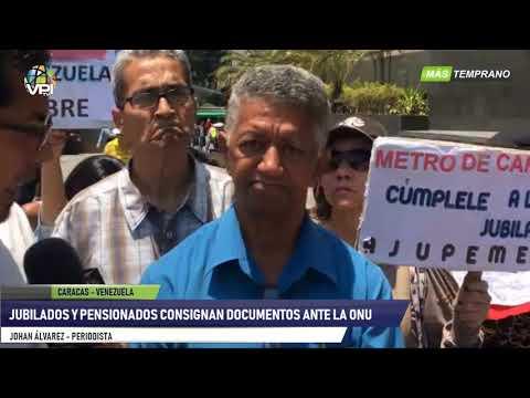 Venezuela - Jubilados y pensionados consignan documento ante la ONU- VPItv