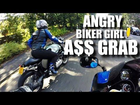 ANGRY BIKER GIRL (CUTE ROAD RAGE) DUAL MOTO VLOG