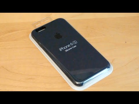 Unboxing Apple IPhone 6s Silicone Case Midnight Blue