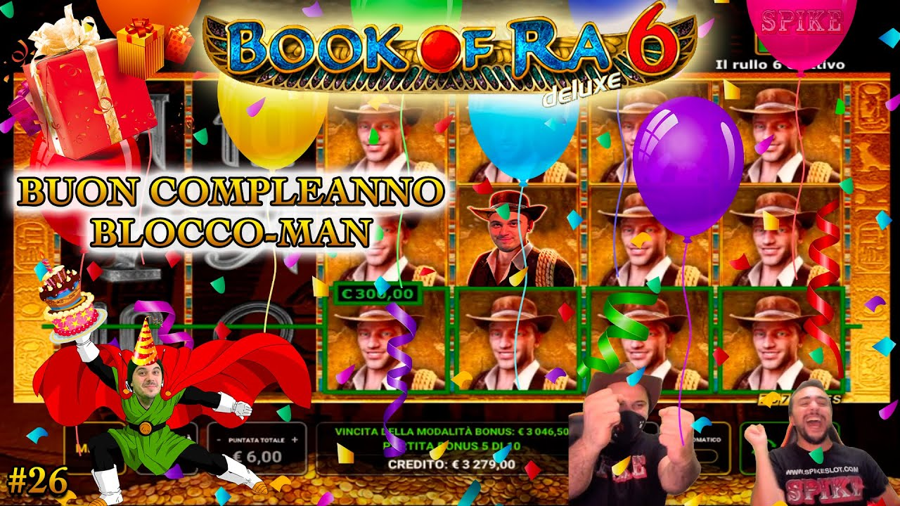 SLOT ONLINE [extra] - Follie alle BOOK OF RA #26  | ? Buon Compleanno Blocco-Man ? |
