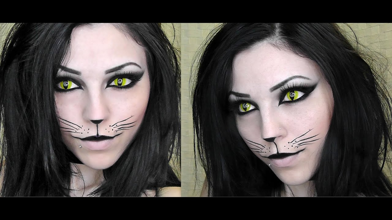 sexy black cat halloween makeup youtube - Cat Eyes Makeup For Halloween
