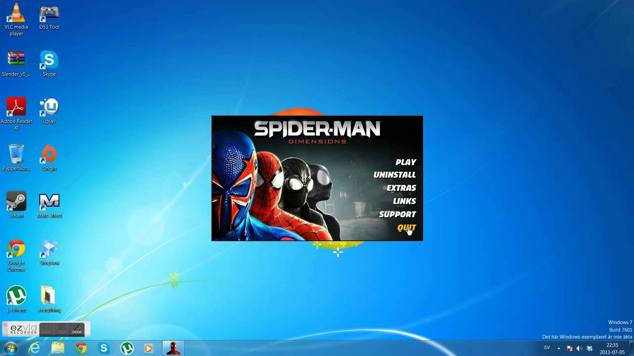 How to download and install spider man shattered dimension game.