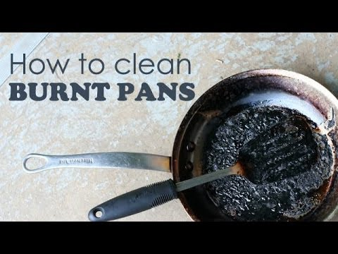 how to clean burnt pans ventuno kitchen tips youtube. Black Bedroom Furniture Sets. Home Design Ideas