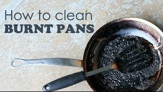 How to clean burnt pans   Ventuno Kitchen Tips