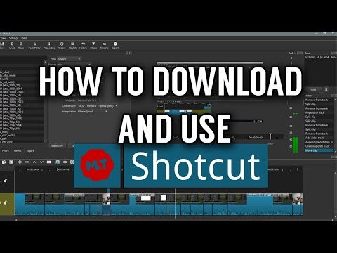 Shotcut Video Editor Basic Tutorial (how to download and use)