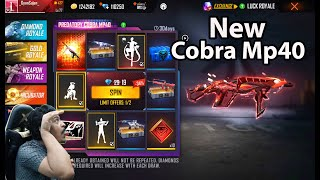 Luck Royale New Cobra Mp40 | Cobra Dance Emote Ground Punch | Garena Free Fire